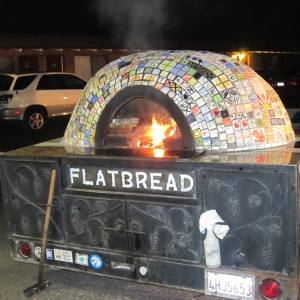Flatbread brought their pizza oven for dinner Sat.
