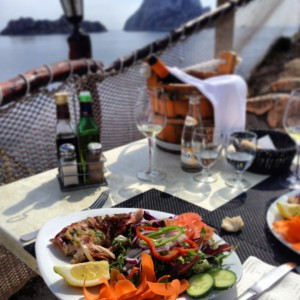 Lunch in Ibiza