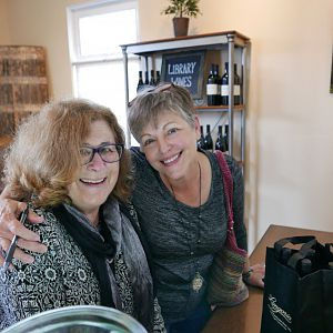 Marcia Battin and Deborah Johnson Horn