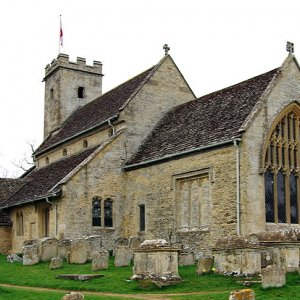 St Mary's Church, Swinbrook, Oxfordshire