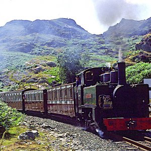 Mountaineer approaching the new moelwyn tunnel, 1980/90s