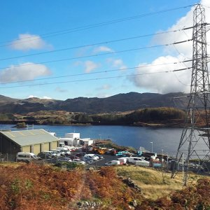 Llyn Ystradau and the pumped storage hydroelectric power station