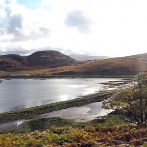 Llyn Ystradau and the original track bed