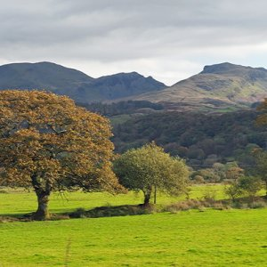 Cnicht and the Moelwyns, from the Welsh Highland Railway