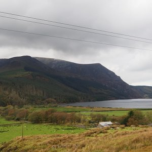 Approach to Llyn Cwellyn, Welsh Highland Railway