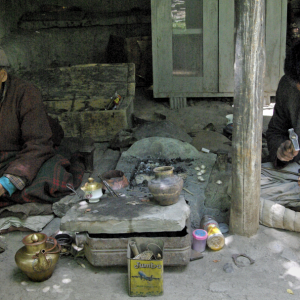 Traditional metal workers, Chilling Village