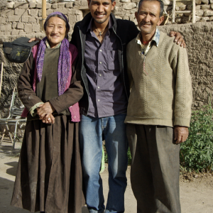 Stanzin with his grandparents