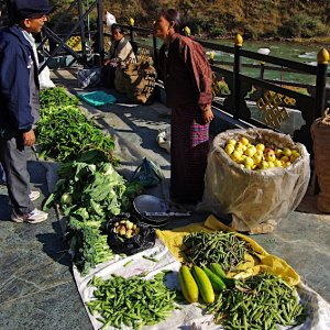 Thimphu vegetable market, Bhutan