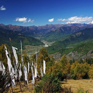 Looking down in to the haa valley from Chelala Pass, Bhutan