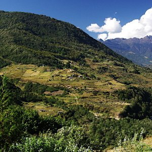 View from Trashi Yangtsi Dzong, Bhutan