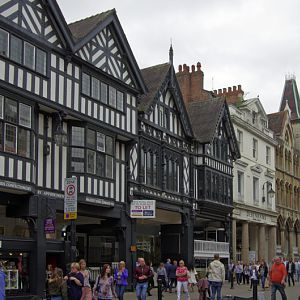 Buildings along Eastgate, Chester
