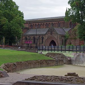 Church of St John the Baptist and the Amphitheatre, Chester