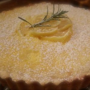 Lemon tart made with Meyer lemons from my tree