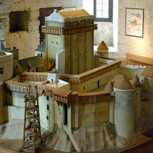 Model of Loches Donjon