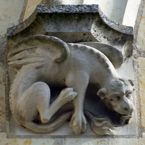 Église de Saint-Épain, dragon.png