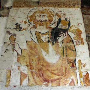 Lavardin, Église St-Genest, St Christopher.png