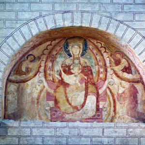 Abbey of Saint Savin - fresco above west end.png