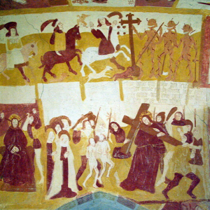 Antigny, Chapelle Ste-Catherine - the three living and the three dead .png