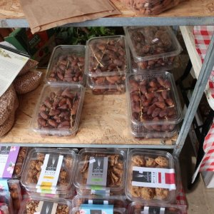Fresh dates at the German Colony market