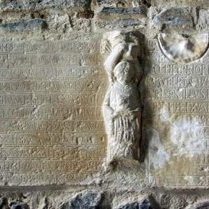 Uzerche, Abbey of St Peter - Epitaph to Bason II