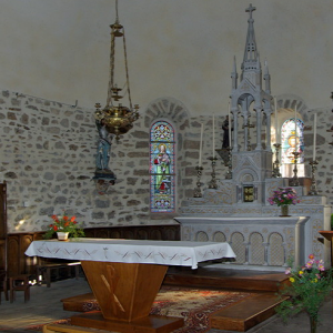 Cassaniouze church, chancel