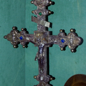 St-Parthem church - processional cross