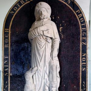 La Vinzelle,  Église-St-Roch - Statue of St Roch