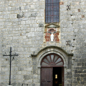 Montsalvy Abbey - west door