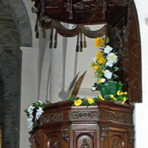 Montsalvy Abbey - pulpit