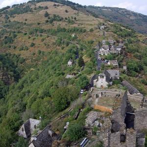 Vallon as seen from the château