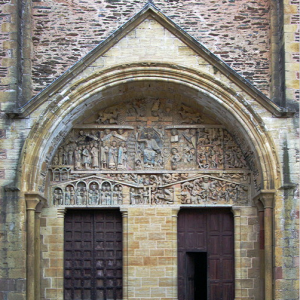 Conques,  Abbey-Church of Saint-Foy - west door