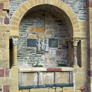 Conques, Abbey-Church of Saint-Foy - tomb on outside wall