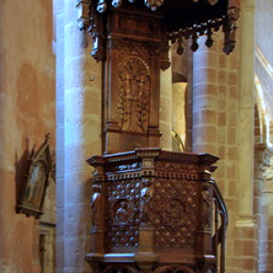 Bouzels, Church of Ste Fauste - pulpit