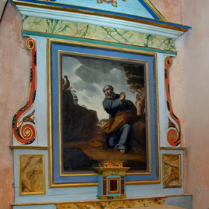 Bouzels, Church of Ste Fauste -  side altar
