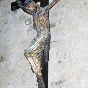 Brioude, Basilique St-Julien - medieval crucifix