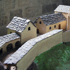 Saint-Julien-Chapteuil - model of original priory on its promontory