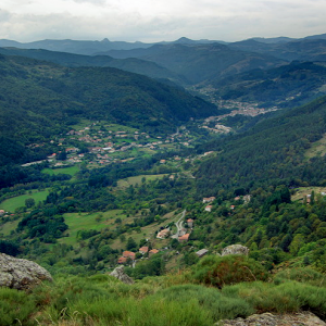 View of Central Massif from Château de Rochebonne