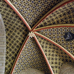Grazac, fortified priory - chancel ceiling