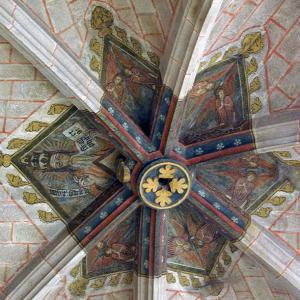 Saint-Bonnet-le-Château, Collegiate Church - nave ceiling boss