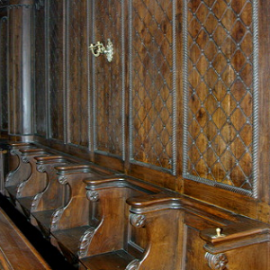 Montfaucon-en-Velay, Église St Pierre - choir stalls