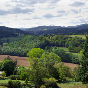 view across the Doux Valley from Boucieu-le-Roi
