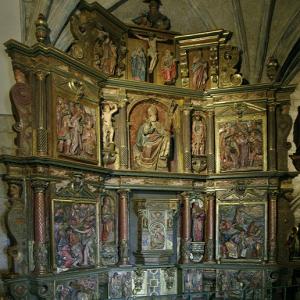 San Martin de Unx, Iglesia San Martin de Tours - reredos on north wall