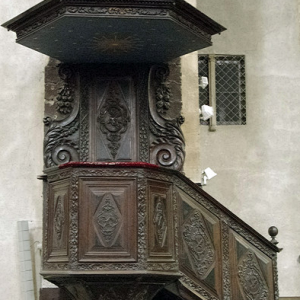 Foix, Abbatiale St-Volusien - pulpit