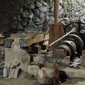 Forges de Pyrène - forge, tilt hammer and water wheel to power hammer