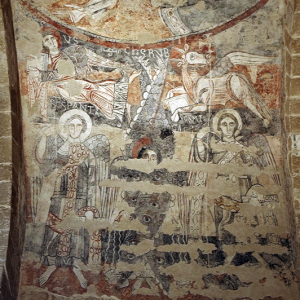 Vals, Église Sainte-Marie - C12th frescoes