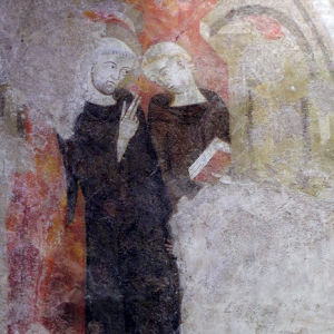 Alet-les-Bains, Église St-André - north chapel C14th fresco