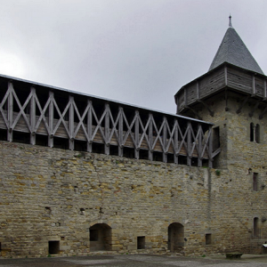 Carcassonne, Château Comtal - south side