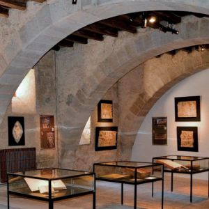 Abbaye de St Papoul - Exhibition area in the Refectory