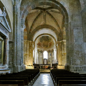 St Lizier, St Girons Cathedral - nave and chancel