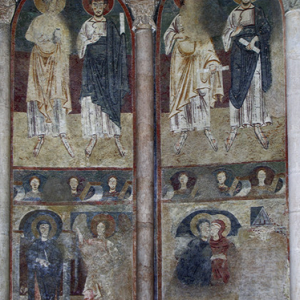St Lizier, St Girons Cathedral - chancel frescoes